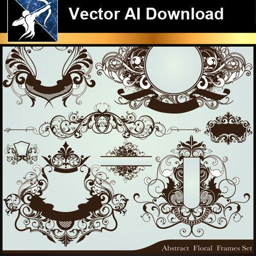 ★Vector Download AI-Floral Design Elements Vector V.3 - Architecture Autocad Blocks,CAD Details,CAD Drawings,3D Models,PSD,Vector,Sketchup Download
