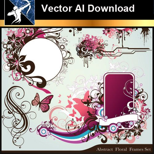 ★Vector Download AI-Floral Design Elements Vector V.4 - Architecture Autocad Blocks,CAD Details,CAD Drawings,3D Models,PSD,Vector,Sketchup Download