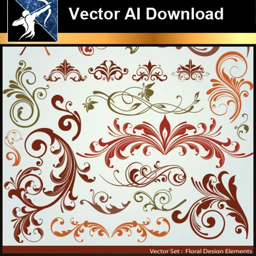 ★Vector Download AI-Floral Design Elements Vector V.5 - Architecture Autocad Blocks,CAD Details,CAD Drawings,3D Models,PSD,Vector,Sketchup Download