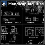 【Architecture Details】Handicap Facilities - Architecture Autocad Blocks,CAD Details,CAD Drawings,3D Models,PSD,Vector,Sketchup Download