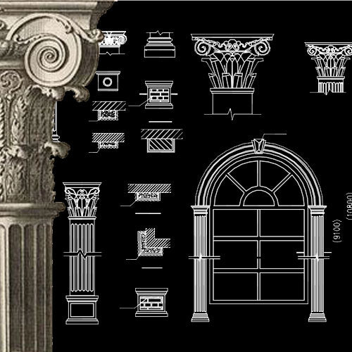 ★Architecture Decorative CAD Blocks V.16-☆Architectural Decorative Door and Windows - Architecture Autocad Blocks,CAD Details,CAD Drawings,3D Models,PSD,Vector,Sketchup Download