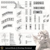 Architectural Decoration Elements CAD Blocks Bundle V.7-Stairs - Architecture Autocad Blocks,CAD Details,CAD Drawings,3D Models,PSD,Vector,Sketchup Download