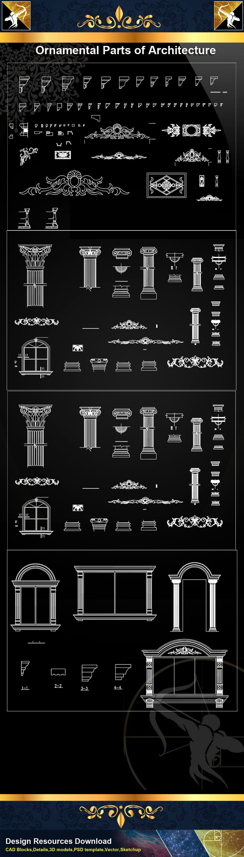 ★Ornamental Parts of Architecture 8