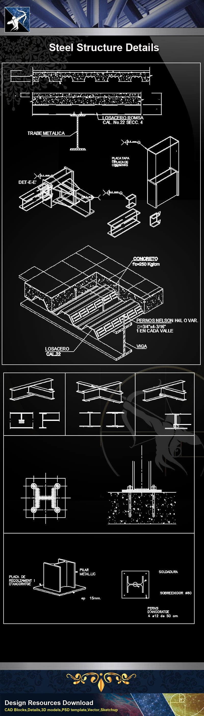 ★【Steel Structure Details】Steel Structure Details Collection V.7
