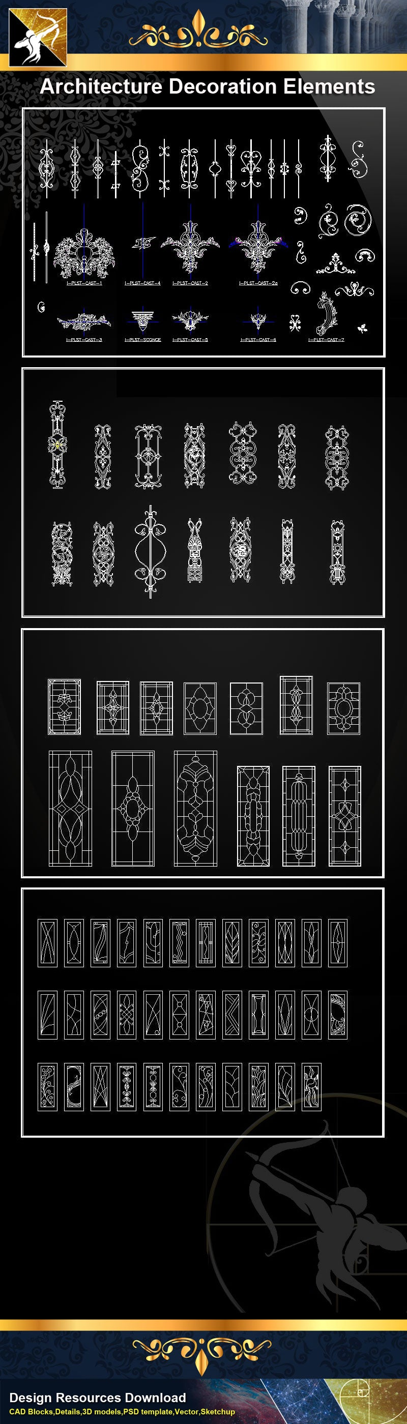 ★★Architectural Decorative CAD Elements
