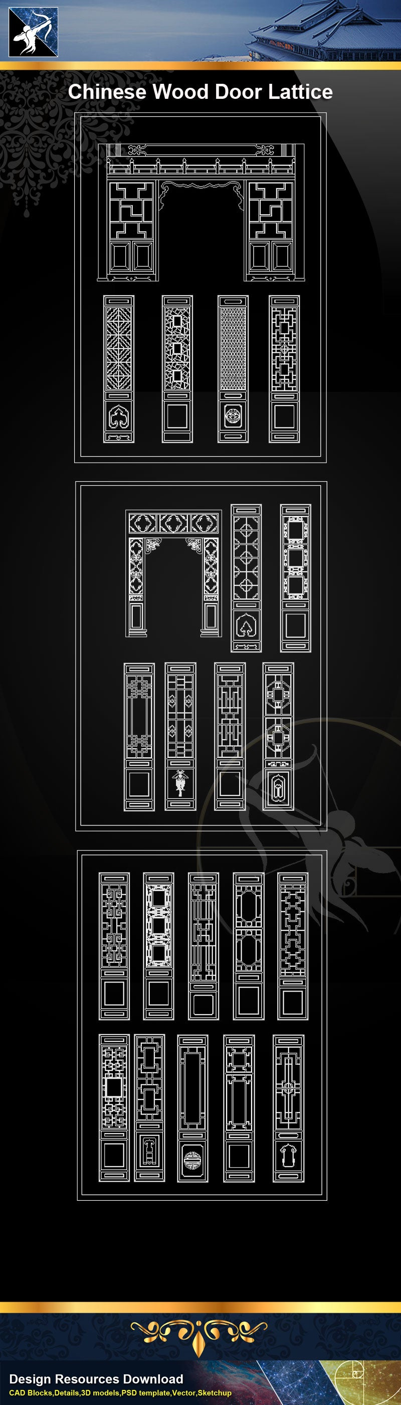 Antique Chinese DoorChinese Wood ScreenCarved Wood DoorCarved Wooden Chinese Door & Chinese Door Lattice CAD Blocks? u2013 Free Graphic Design Templates ...