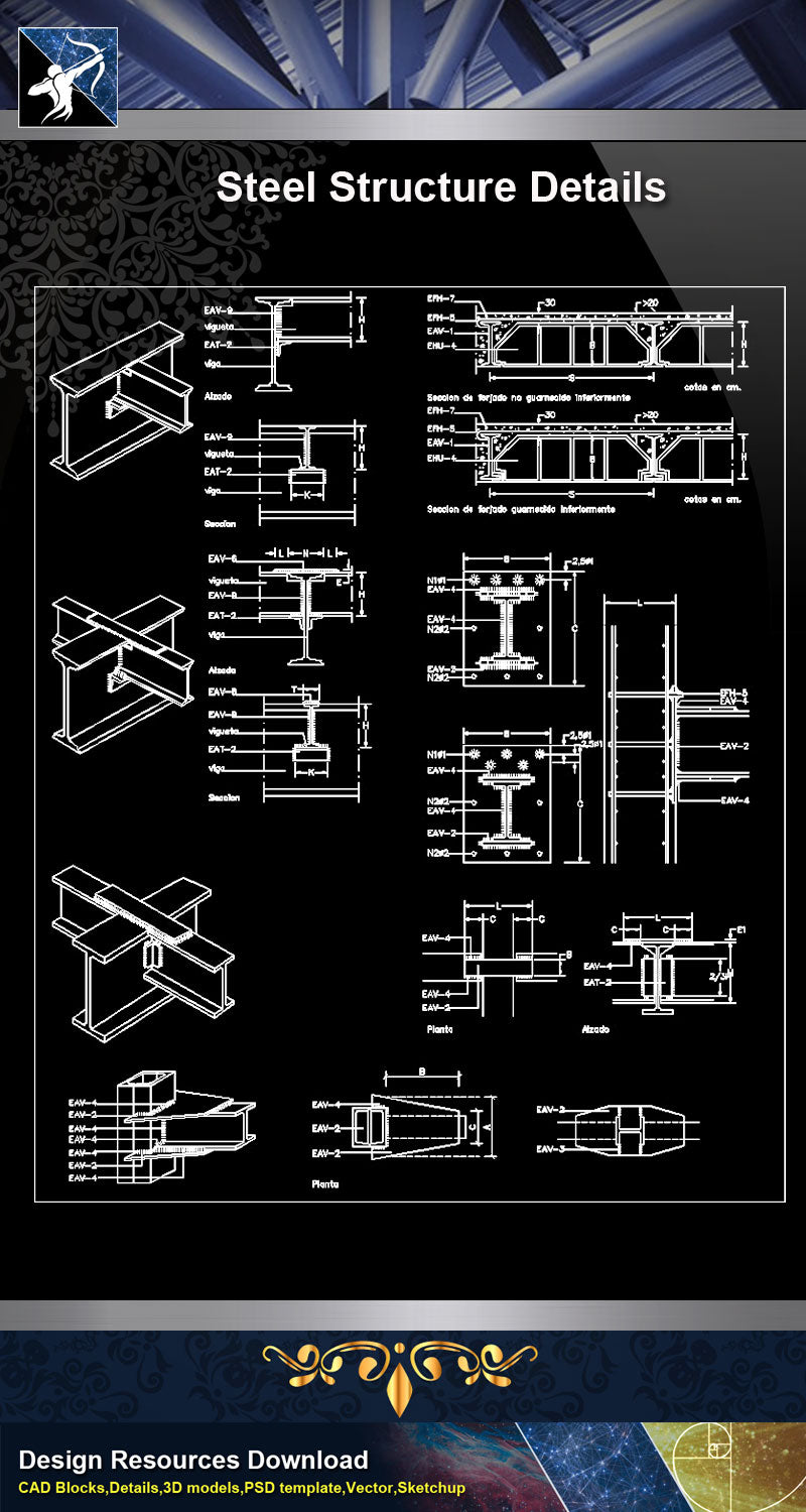 【Free Steel Structure Details】Steel Structure CAD Details 5