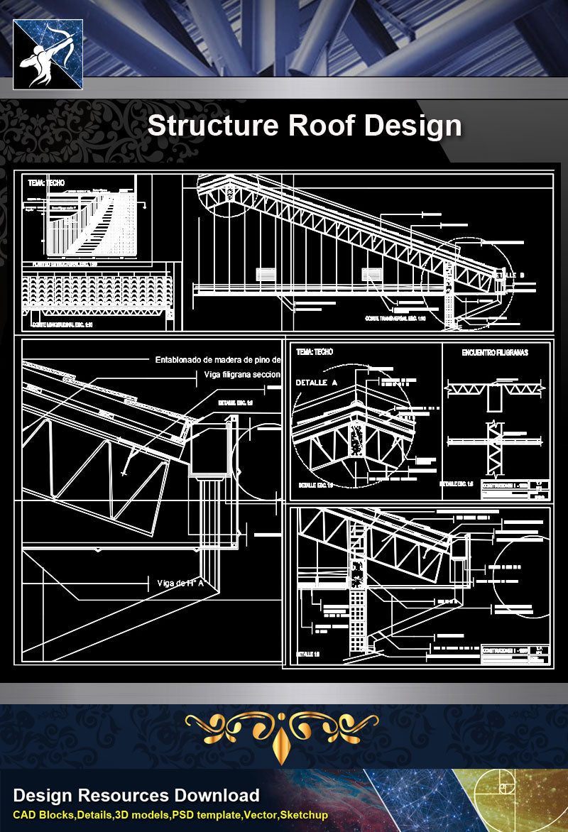 ★【Architecture Details】Structure Roof Design