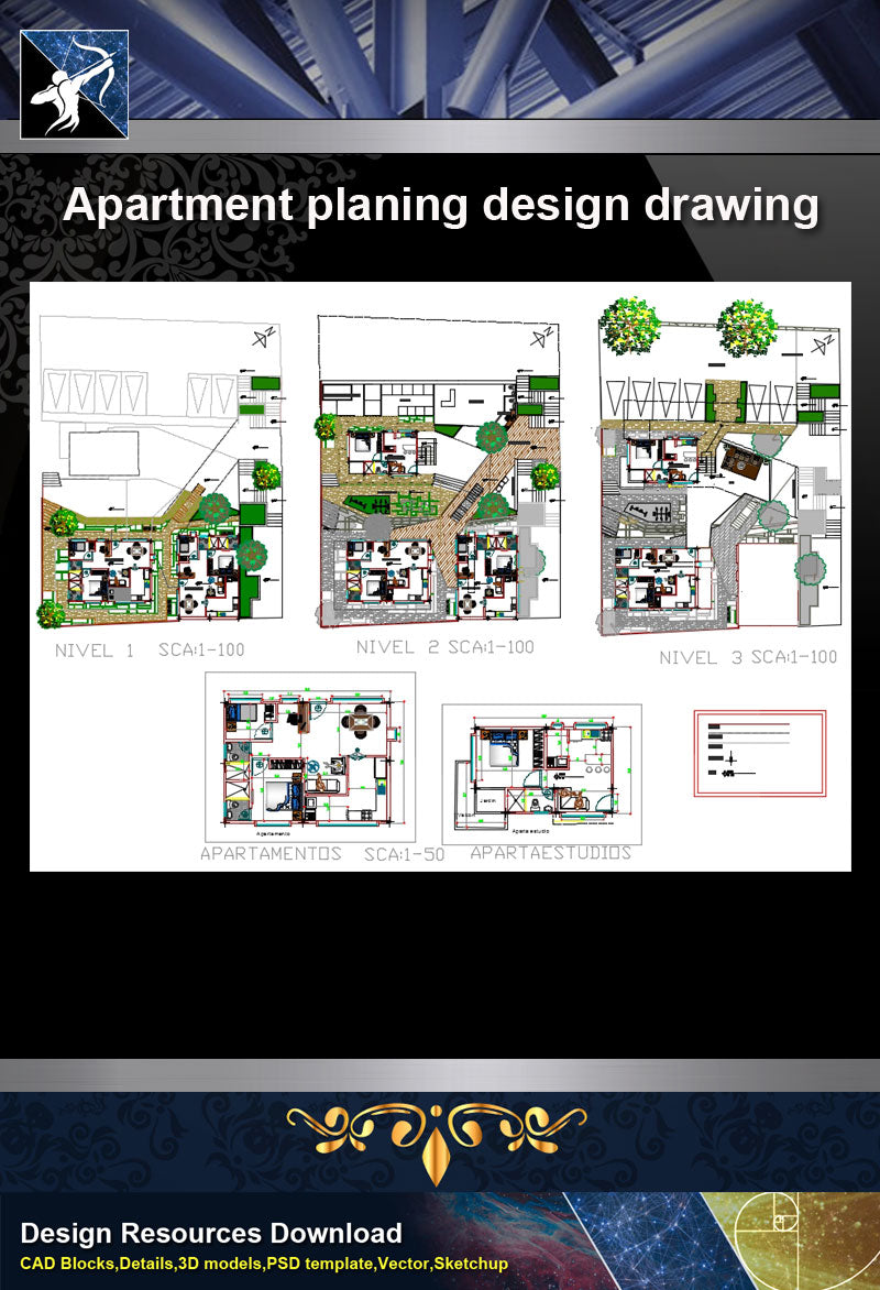 ★【Architecture Details】 Apartment planing design drawing