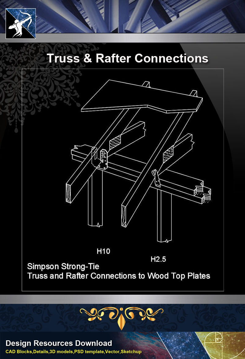 【Free Steel Structure Details】Truss @ Rafter Connections
