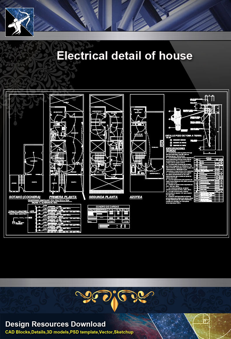 Electrical DetailsElectrical detail of house Free Graphic Design