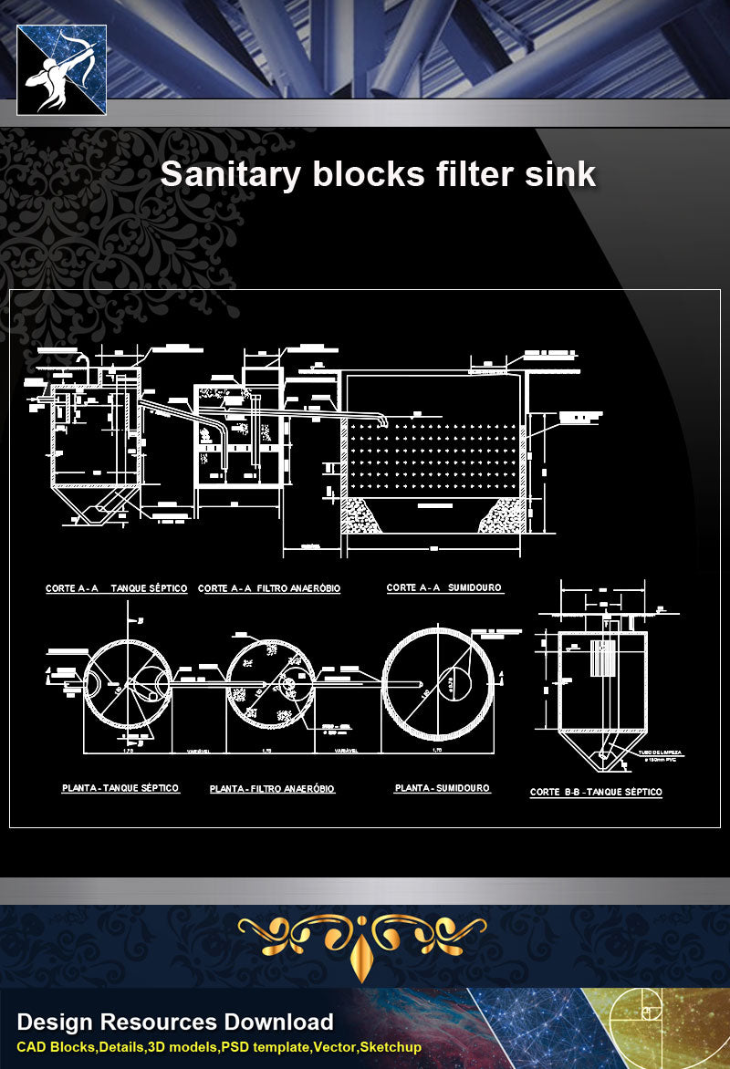 【Sanitations Details】Sanitary Blocks Filter Sink