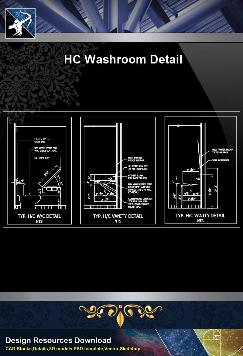 【Sanitations Details】HC Washroom Detail