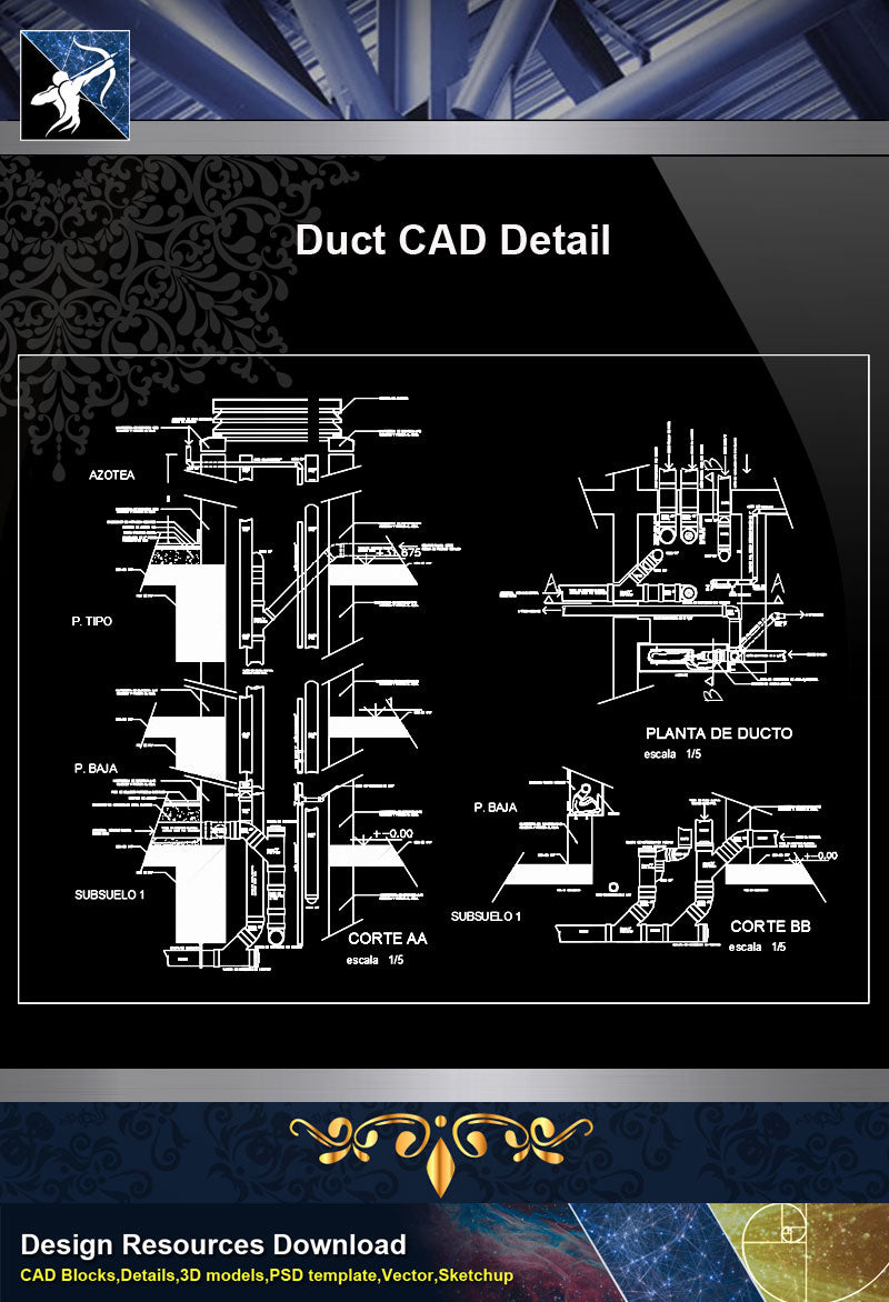 Duct CAD Detail