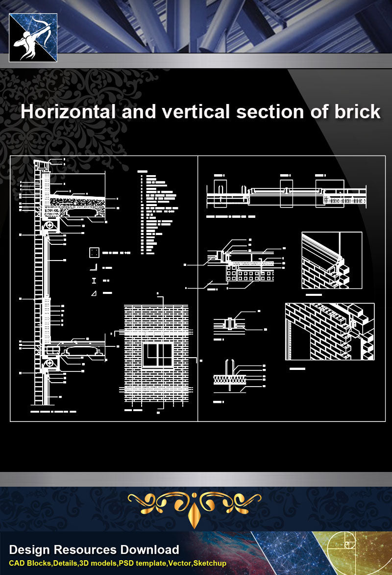 ★【Concrete Details】Horizontal and vertical section of brick