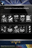 【Concrete Details】Different types of masonry work design drawing - Architecture Autocad Blocks,CAD Details,CAD Drawings,3D Models,PSD,Vector,Sketchup Download