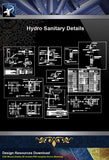 【Sanitations Details】Hydro Sanitary Details - Architecture Autocad Blocks,CAD Details,CAD Drawings,3D Models,PSD,Vector,Sketchup Download
