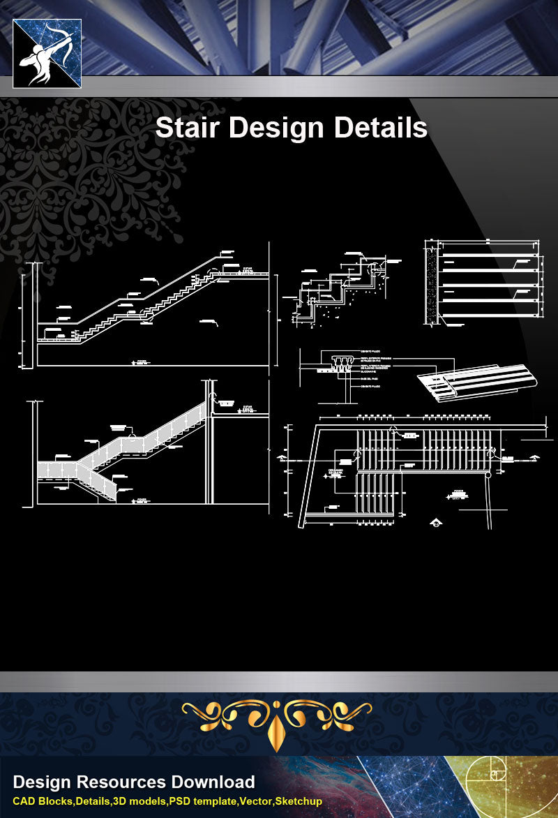★【Stair Details】Stair Design drawing