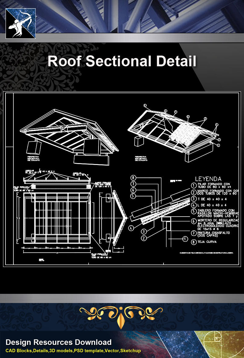 【Roof Details】Free Roof Sectional Detail