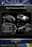 【Roof Details】Free Roof Sectional Detail - Architecture Autocad Blocks,CAD Details,CAD Drawings,3D Models,PSD,Vector,Sketchup Download