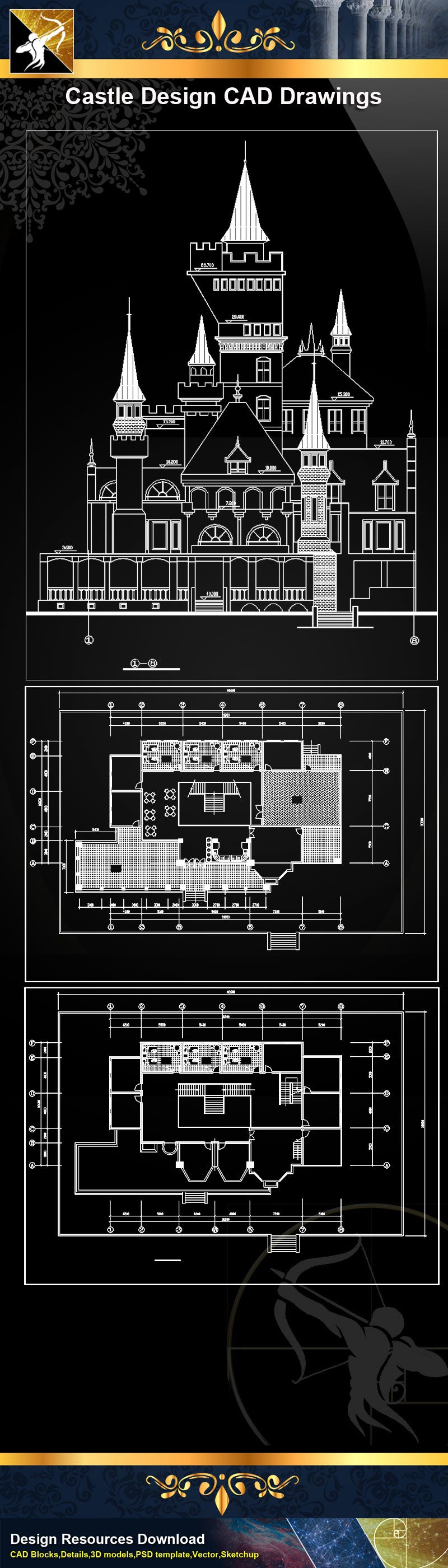 ★Castle Design CAD Drawings 1