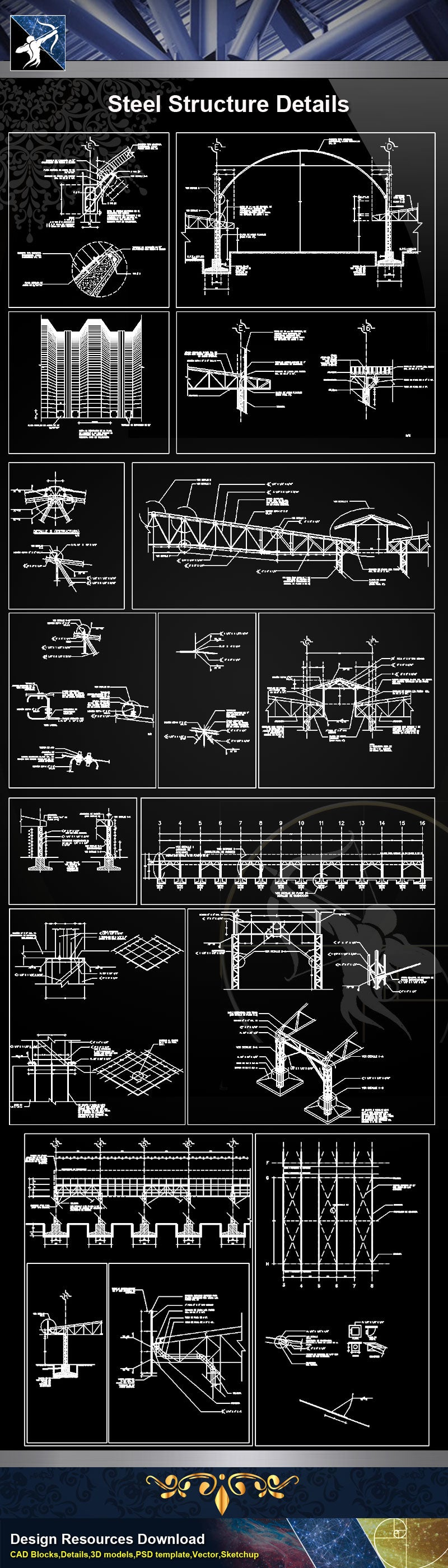 ★【Steel Structure Details】Steel Structure Details Collection V.6