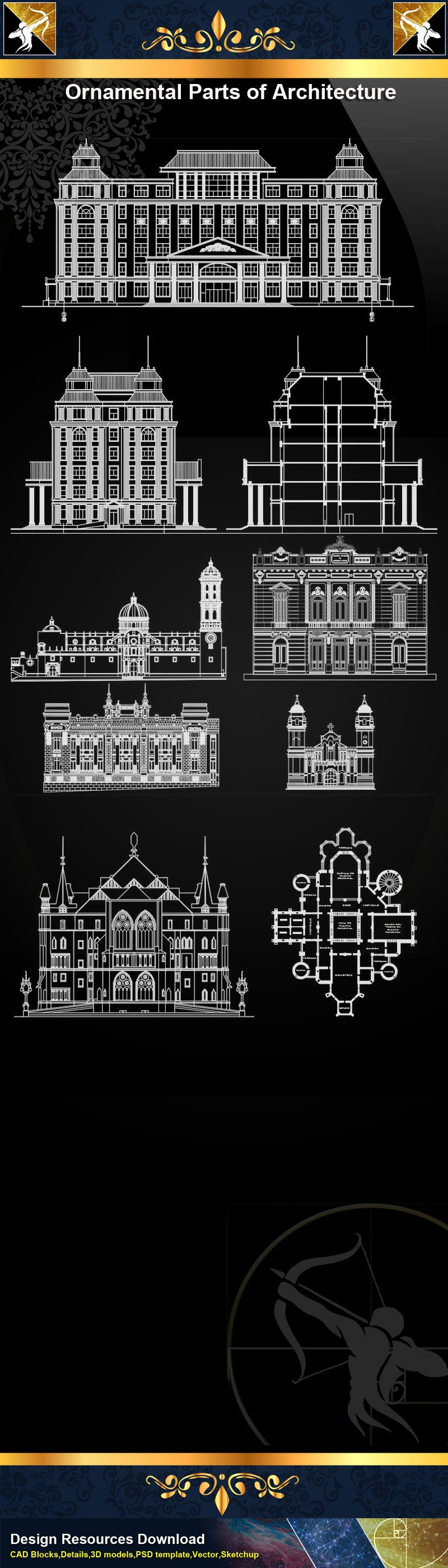 ★Ornamental Parts of Architecture 4