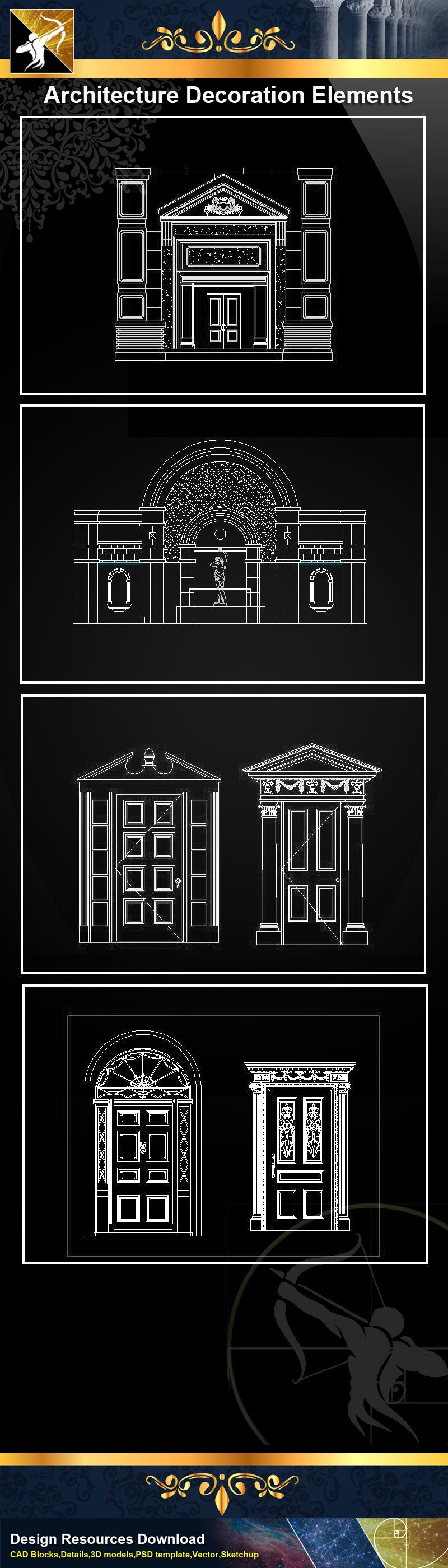 ★Architectural Decorative CAD Elements 04