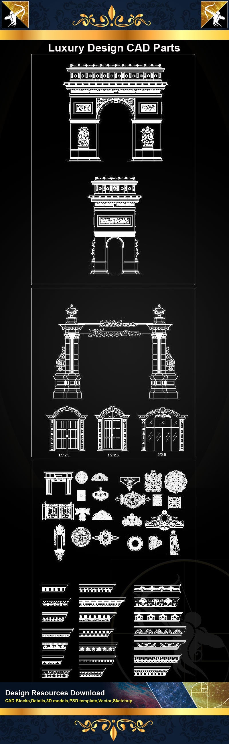 ★Luxury Design CAD Blocks Collection