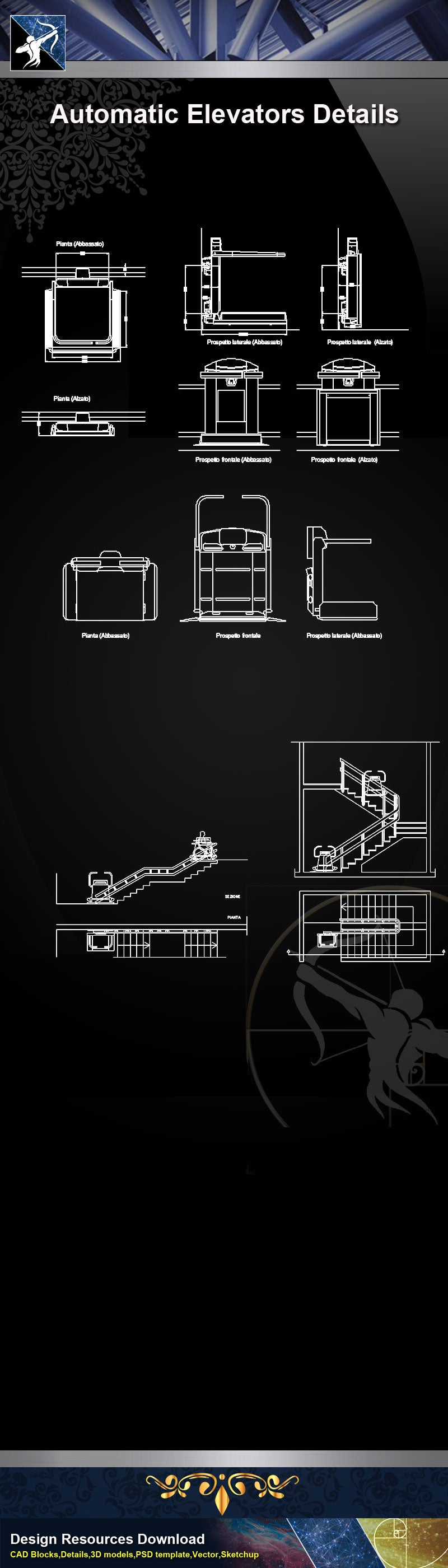 【Stair Details】Automatic Elevators