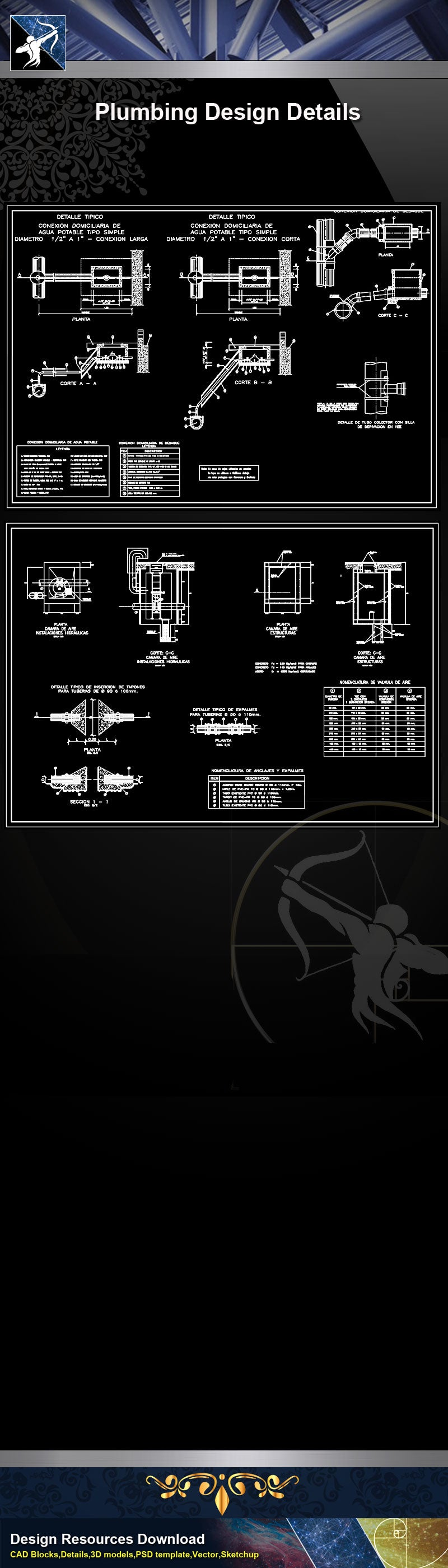 【Sanitations Details】Plumbing Design