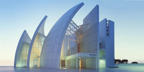 【Famous Architecture Project】Jubilee church CAD Drawing- Richard meier-Architectural 3D model