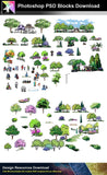 【Photoshop PSD Landscape Blocks】Hand-painted Landscape Blocks 5