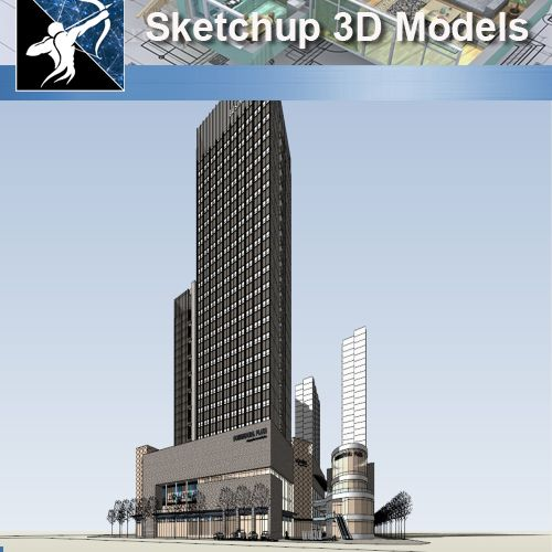 ★★Sketchup 3D Models--Big Scale Business Architecture Sketchup Models 02 - Architecture Autocad Blocks,CAD Details,CAD Drawings,3D Models,PSD,Vector,Sketchup Download
