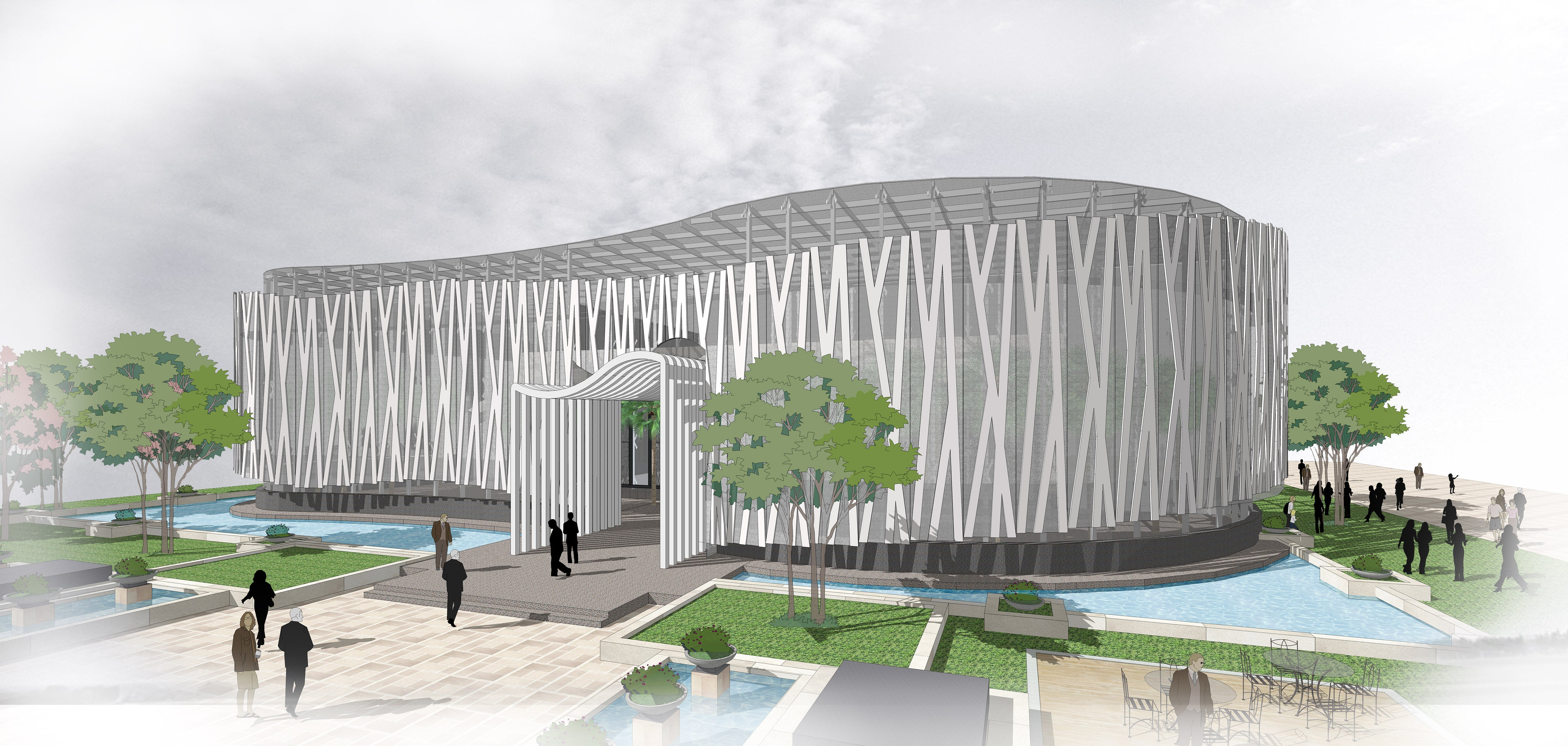 💎【Sketchup Architecture 3D Projects】Curve Polygon Gallery ,Art Museum Sketchup 3D Models