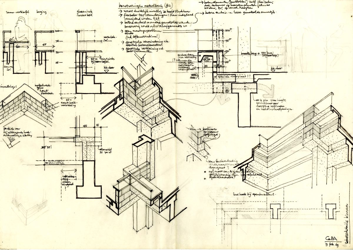 【Famous Architecture Project】Centraal Beheer Office Buildings Apeldoorn-Herman Hertzberger-Architectural CAD Drawings