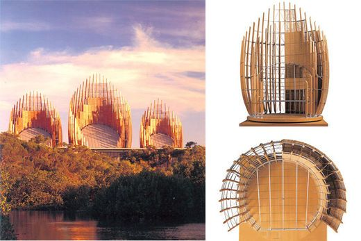 【Famous Architecture Project】Ji Ba Cultural Center-Renzo Piano-Architectural CAD Drawings