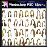 ★★PSD Design Elements-Man and Women Hair Design V.2