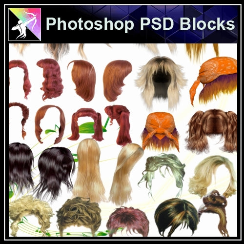 ★★PSD Design Elements-Man and Women Hair Design V.3