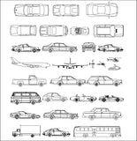 ★【Cars,Aircraft,Boats,Transportation Autocad Blocks Collections】All kinds of Transportation CAD Blocks
