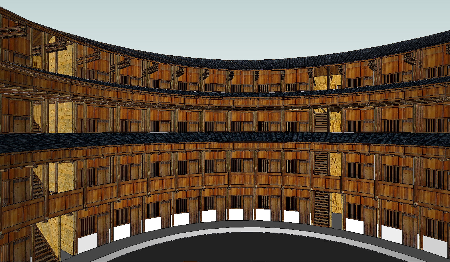 【Famous Architecture Project】China Tulou-Architectural 3D SKP model
