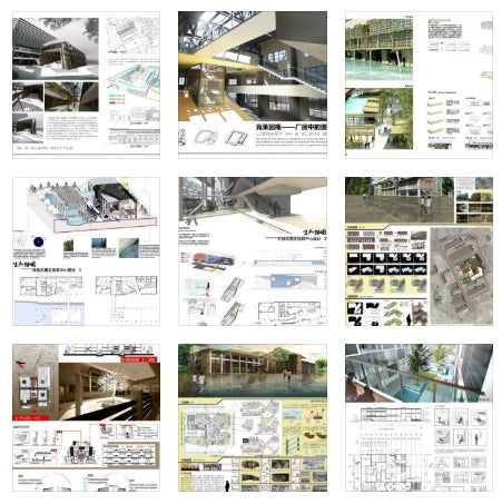 ★Architectural Competition Portfolio V15 (Free Downloadable) - Architecture Autocad Blocks,CAD Details,CAD Drawings,3D Models,PSD,Vector,Sketchup Download