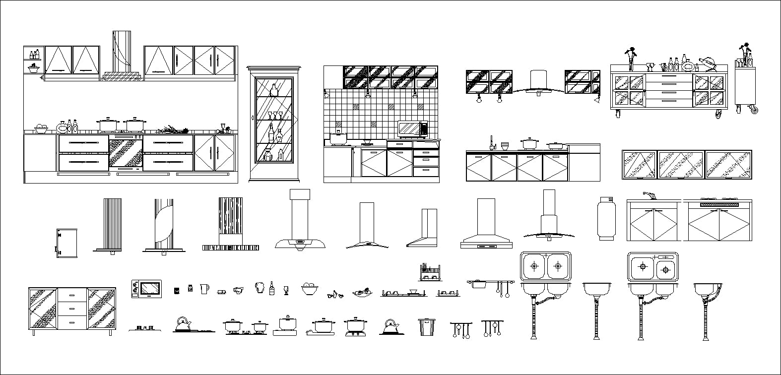 Kitchen Related Items Autocad Blocks Collections All Kinds Of Kitchen Cad Block Ebay