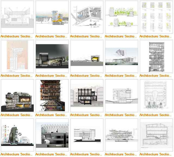 ★Best Architectural Sections Images Gallery V5(Free Downloadable) - Architecture Autocad Blocks,CAD Details,CAD Drawings,3D Models,PSD,Vector,Sketchup Download
