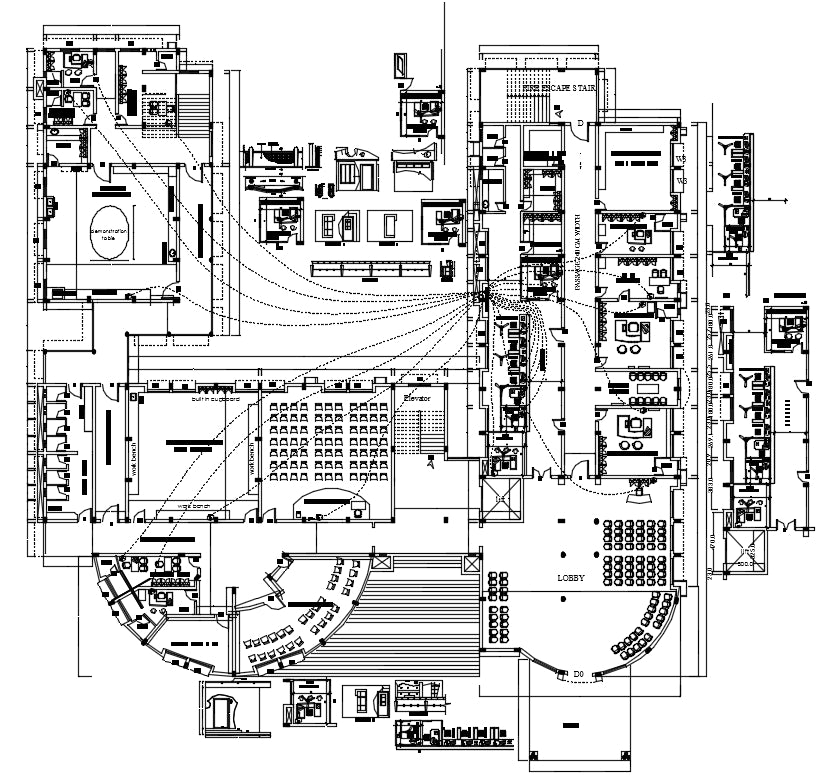 【Architecture CAD Projects】@College Plan of Architecture Design CAD Drawings