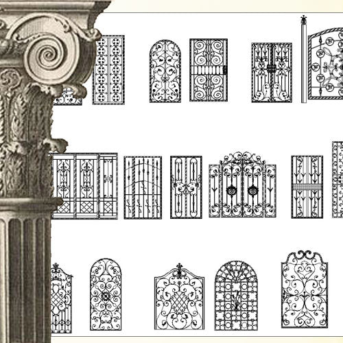 Ornamental Parts of Architecture -☆Architectural Decorative CAD Blocks☆ V.25 - Architecture Autocad Blocks,CAD Details,CAD Drawings,3D Models,PSD,Vector,Sketchup Download