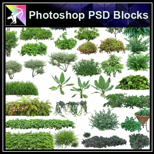 ★Photoshop PSD Landscape Blocks-Trees Blocks V.1 - Architecture Autocad Blocks,CAD Details,CAD Drawings,3D Models,PSD,Vector,Sketchup Download