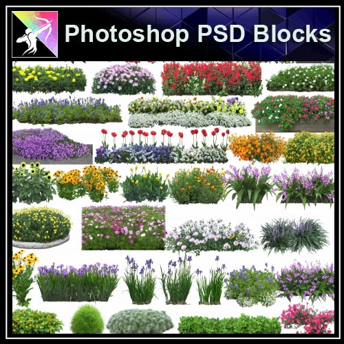 ★Photoshop PSD Landscape Blocks-Trees Blocks V.3