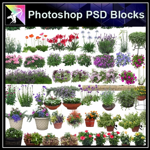 ★Photoshop PSD Landscape Blocks-Trees Blocks V.4