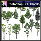 ★Photoshop PSD Landscape Blocks-Trees Blocks V.5 - Architecture Autocad Blocks,CAD Details,CAD Drawings,3D Models,PSD,Vector,Sketchup Download